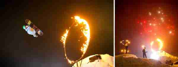 The Fire and Ice display Photo courtesy of Tourism Whistler)