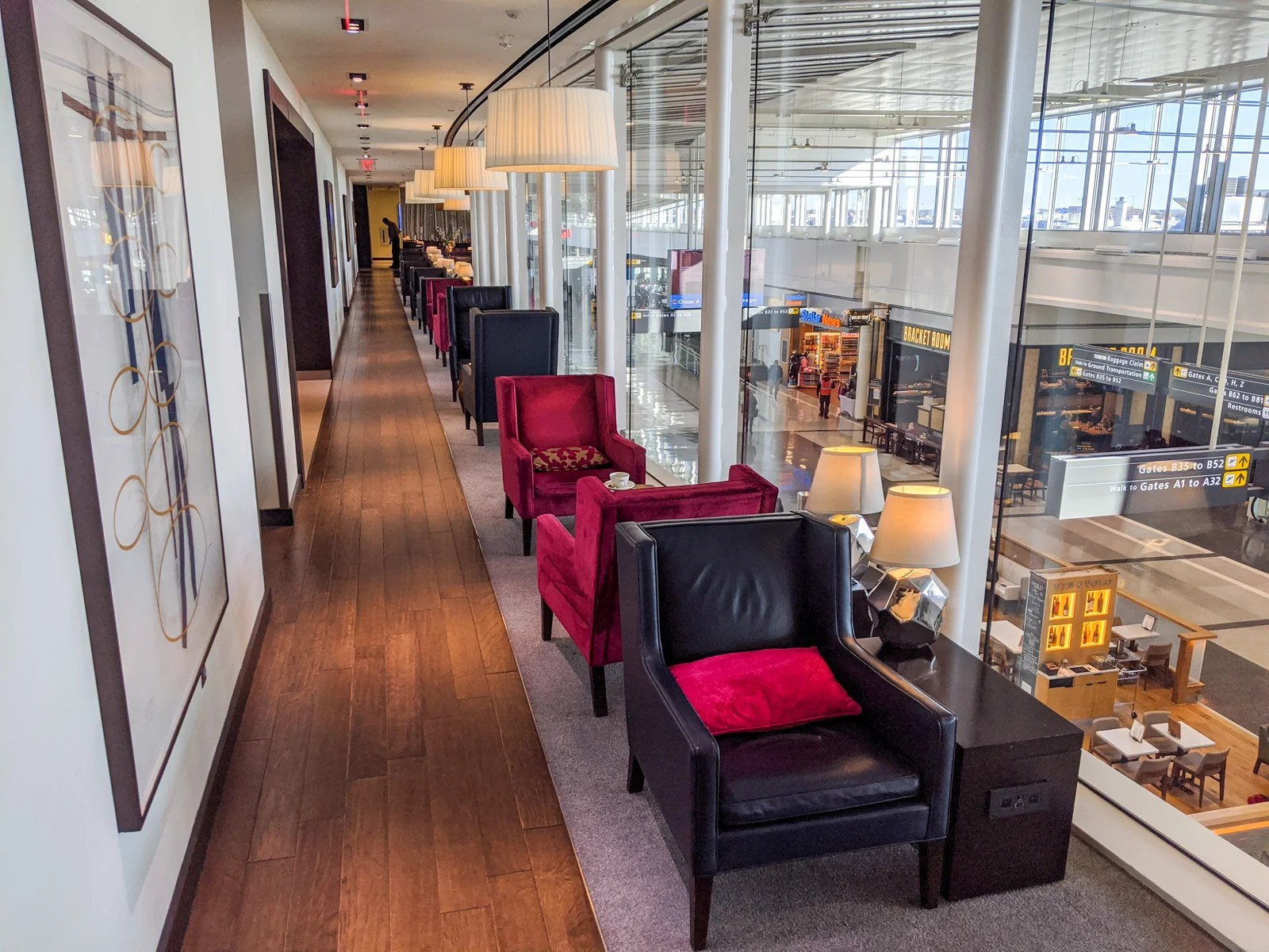 The British Airways Priority Pass lounge at closing.