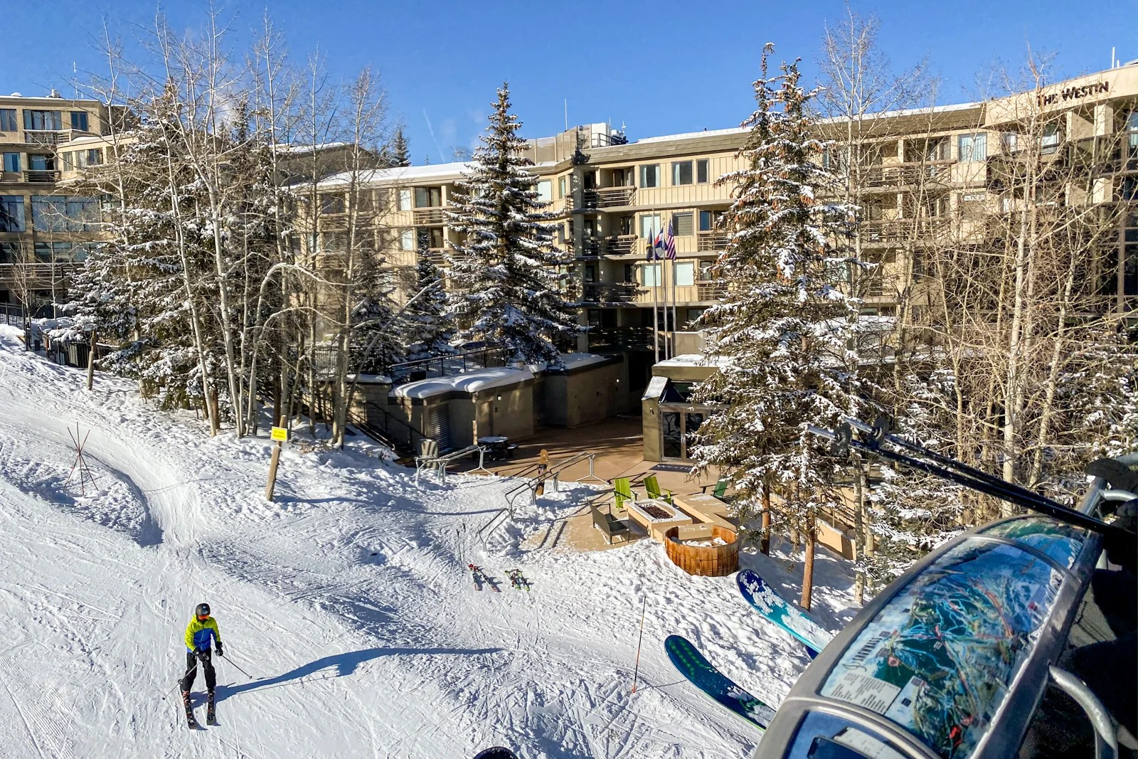 Westin Snowmass as seen from the lift (Photo by Summer Hull/The Points Guy)