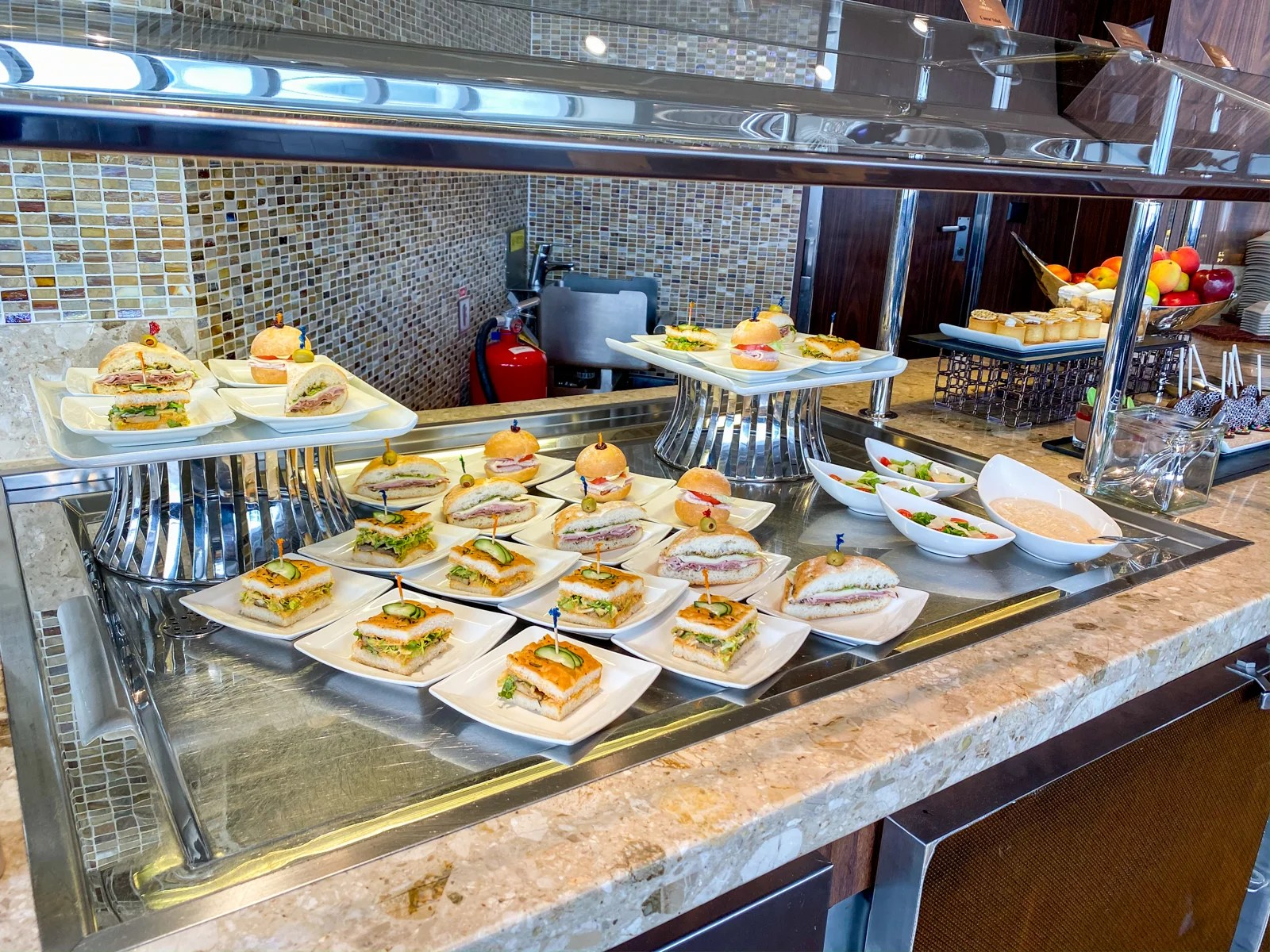 Disney Wonder concierge lounge lunch (Photo by Summer Hull/The Points Guy)