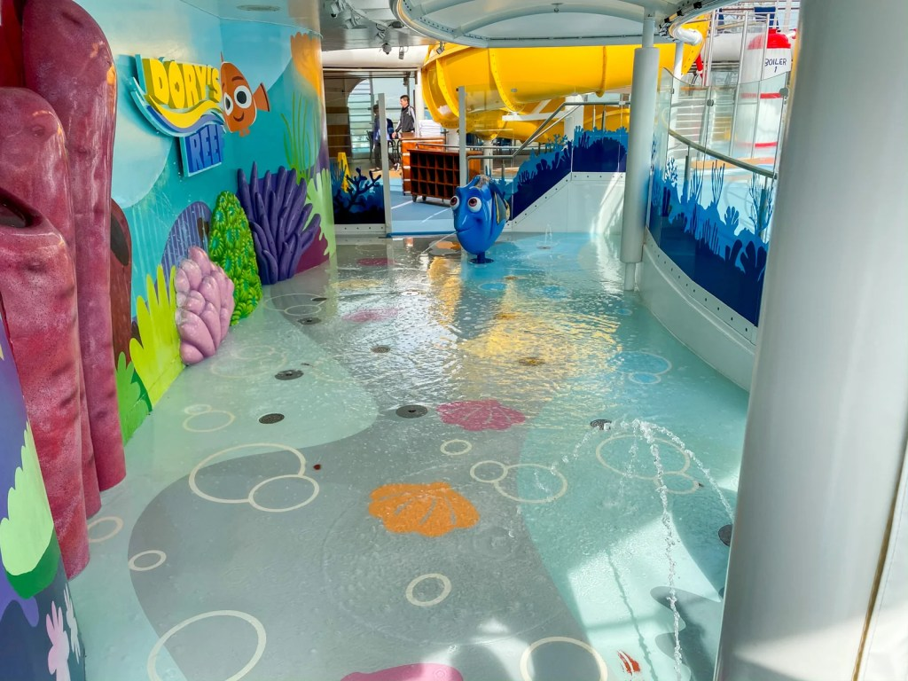 Splash pad area on the Disney Wonder (Photo by Summer Hull/The Points Guy)
