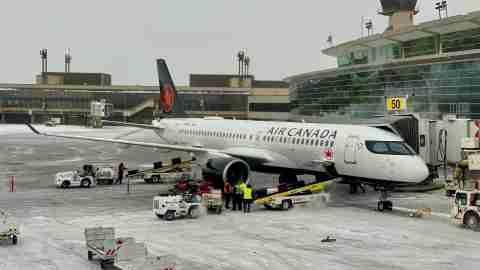 AIr Canada A220 plane