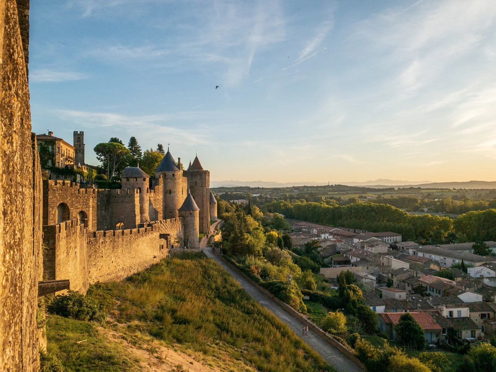 The city walls of Carcassonne, France. (Photo by FvanderVeer/Getty Images)