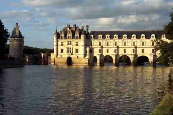 Chateau Chenonceaux on the Cher River in Loire, France. (Photo by Arthur Tilley/Getty Images)