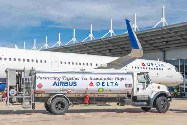 New Delta Airbus A321 aircraft delivery flight. (Image courtesy Delta Air Lines)
