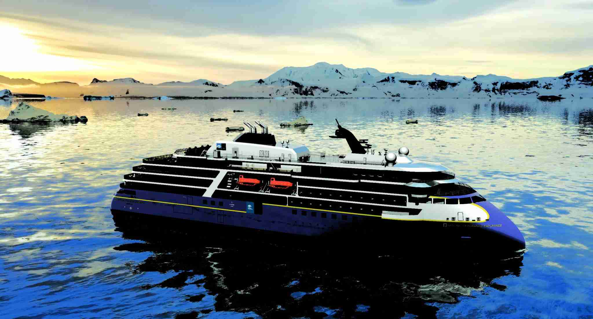 National Geographic Endurance is being billed as the most advanced polar expedition ship ever. Image courtesy of Lindblad Expeditions.