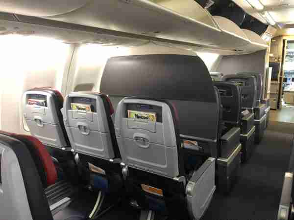 The new first class divider on American