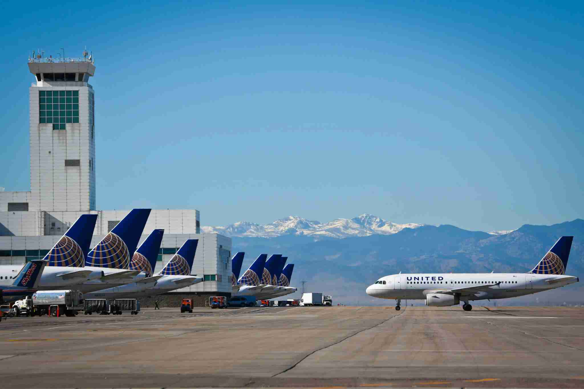 United Airlines tails at Denver International Airport. (Photo courtesy of Denver International Airport)