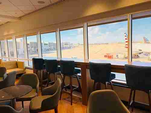 The Priority Pass Lounge at Miami International Airport. (Photo by Victoria Walker/The Points Guy)