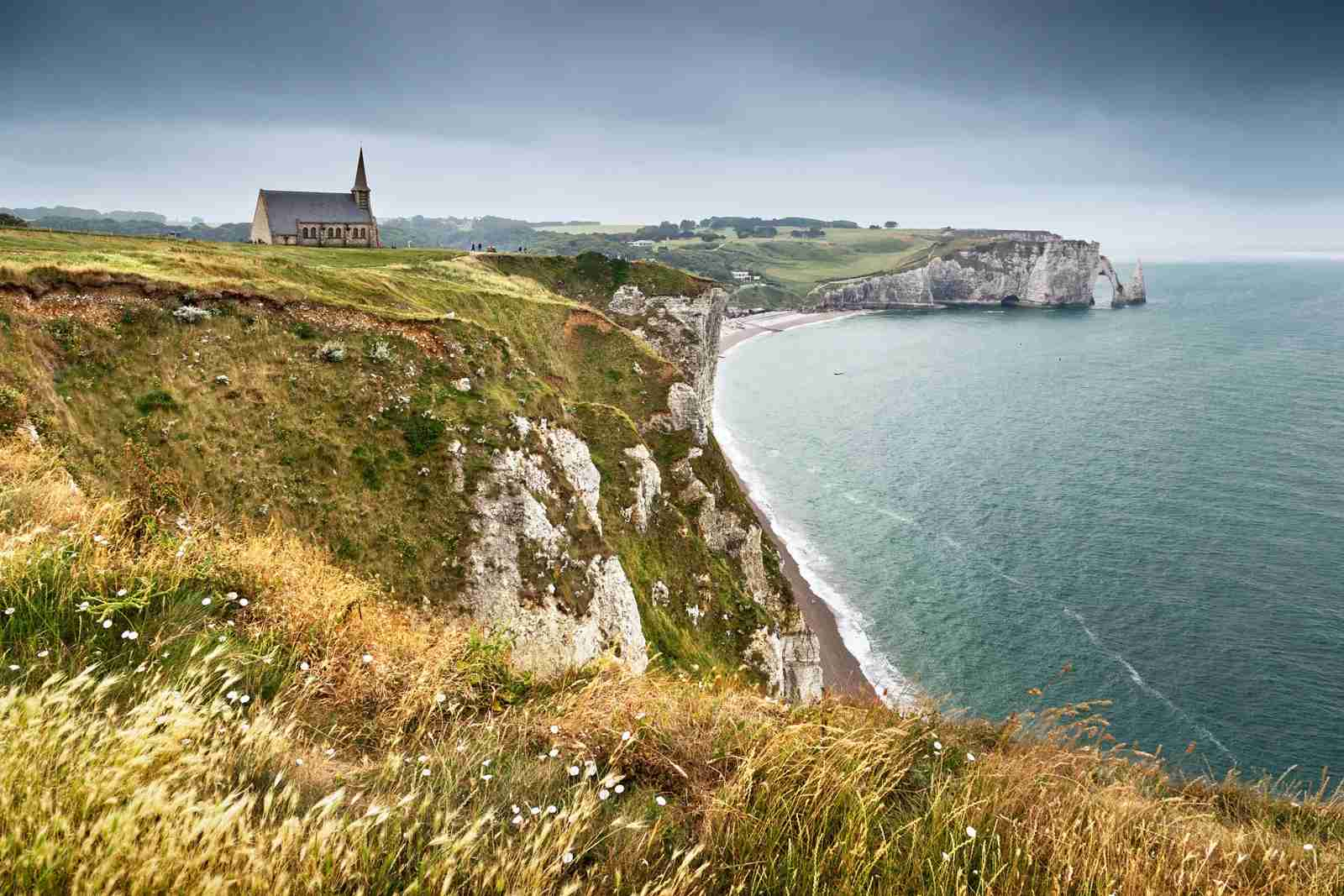 Étretat on the coast of Normandy in France. (Photo by Ellen van Bodegom/Getty Images)