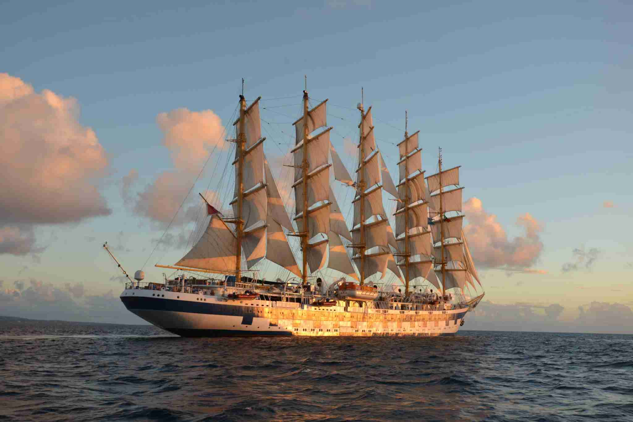 The 223-passenger Royal Clipper is the world