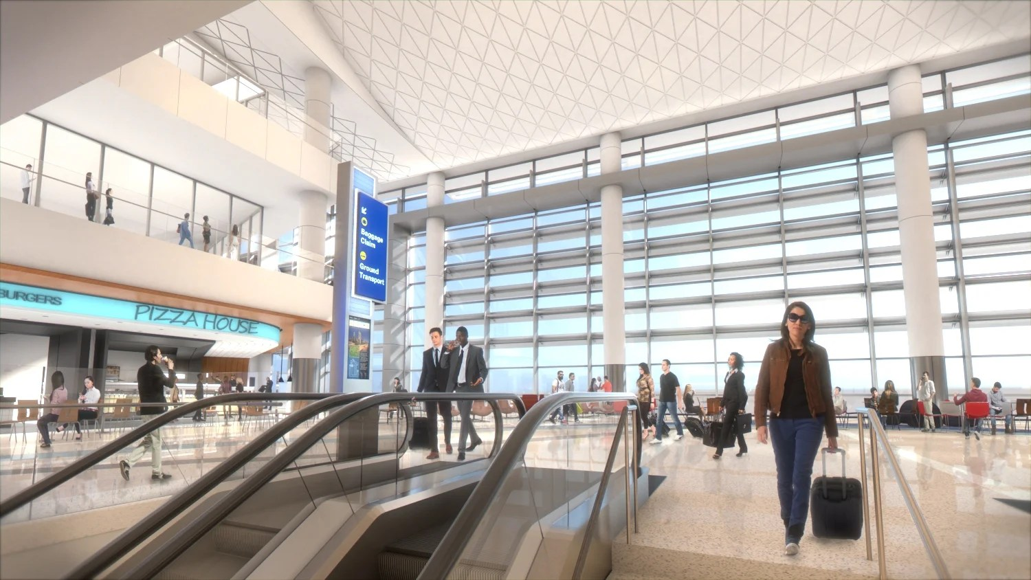 What the new Midfield Concourse at LAX will look like