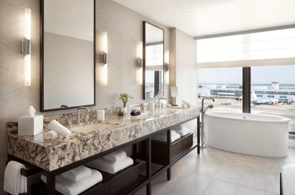 Grand Hyatt at SFO bathroom. (Image courtesy Hyatt)