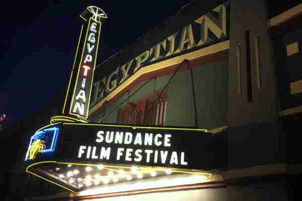 The Egyptian theater for the Sundance film festival. (Photo by Pureadiancephoto/Getty Images)