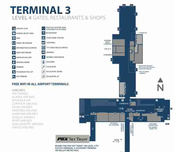 Air CanadaAirlines move into the rebuilt Phoenix Sky Harbor opens the rebuilt North Concourse in Terminal 3 next week. (Image by Phoenix Sky Harbor International Airport)