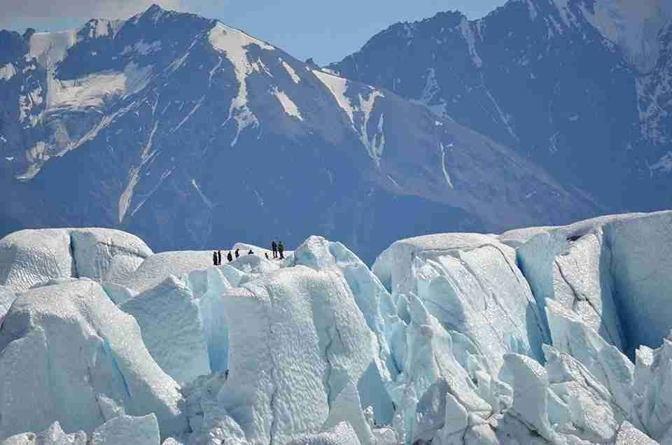 Alaska glacier trekking