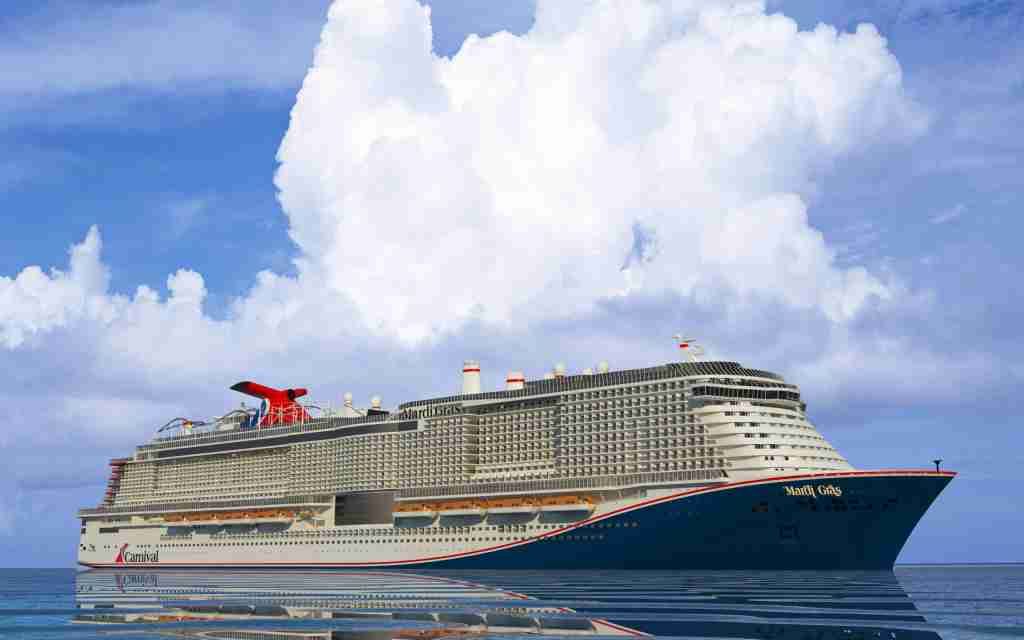 At 180,000 tons, Mardi Gras will be one of the 10 biggest cruise ships in the world when it debuts in November 2020. (Image courtesy of Carnival Cruise Line).