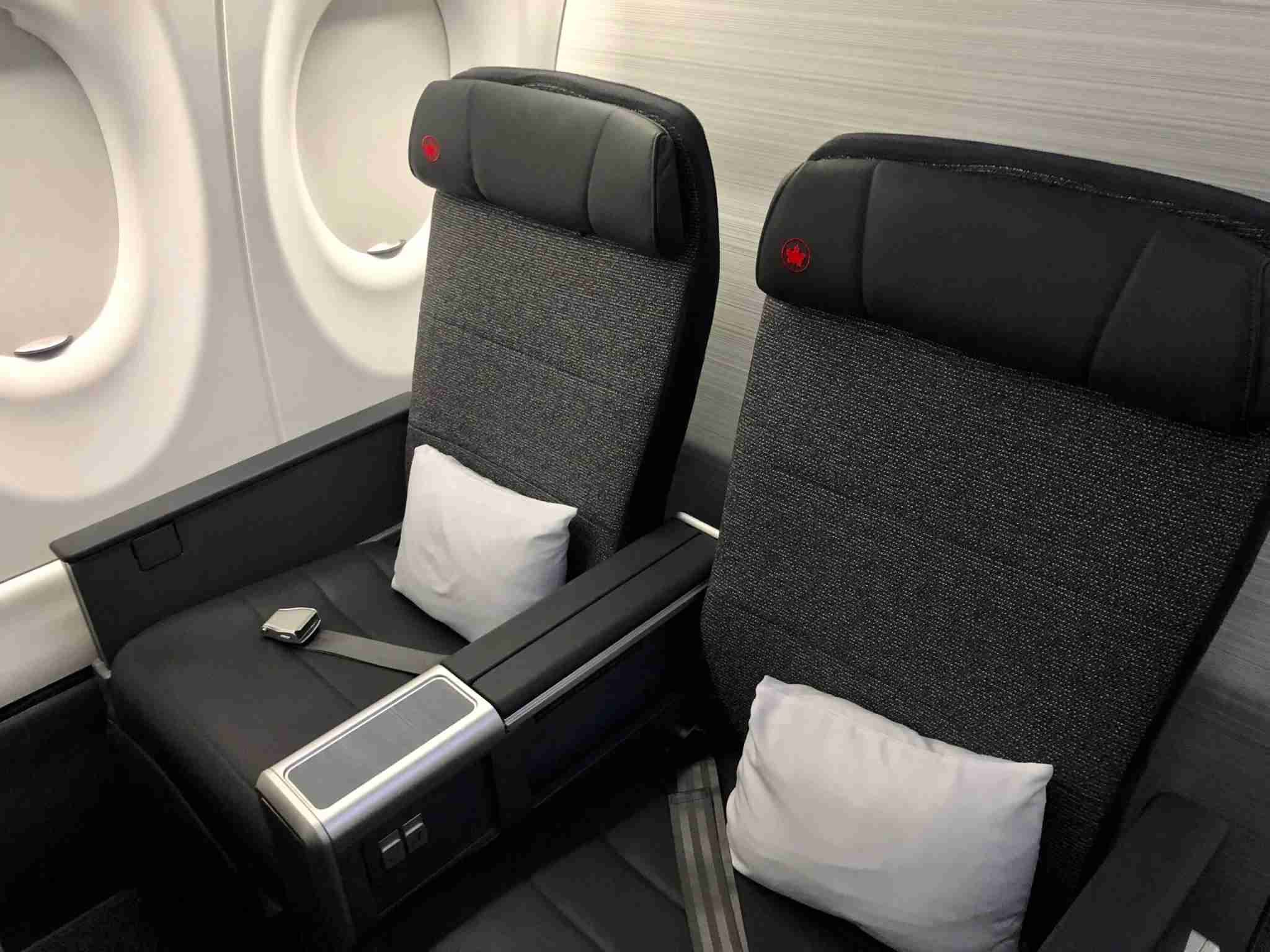 Business class onboard Air Canada