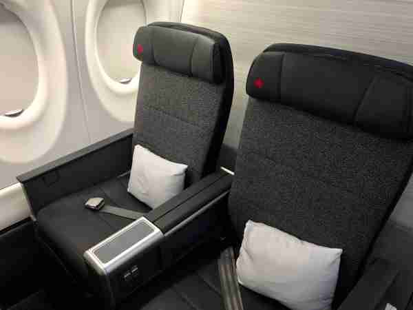 Business class onboard Air Canada