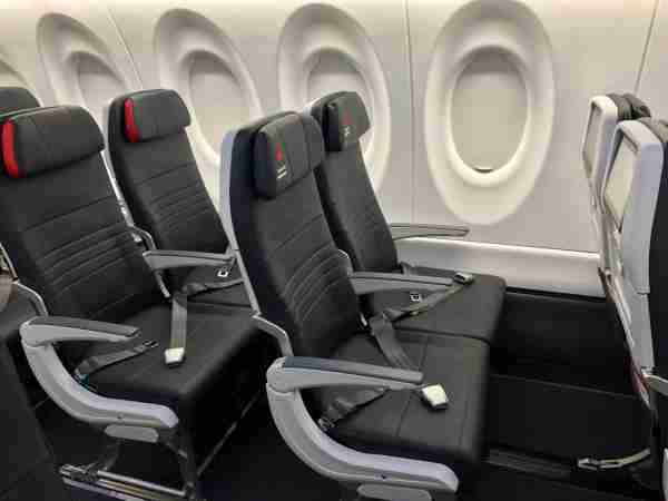 Air Canada has 20 extra-legroom preferred seats on its A220s. (Photo by Edward Russell/TPG)