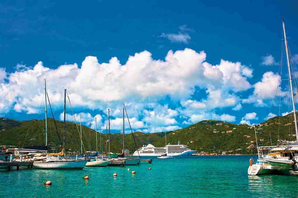Silversea Silver Spirit in Tortola (Photo courtesy of Silversea)