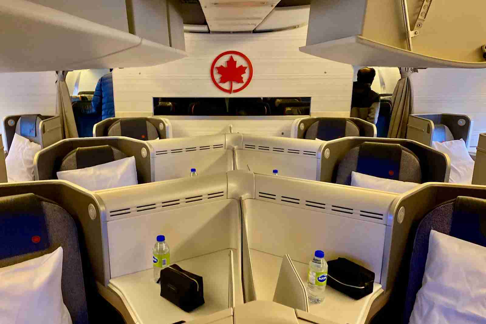 Business class in an Air Canada Boeing 777-300. (Photo by Zach Griff/The Points Guy)