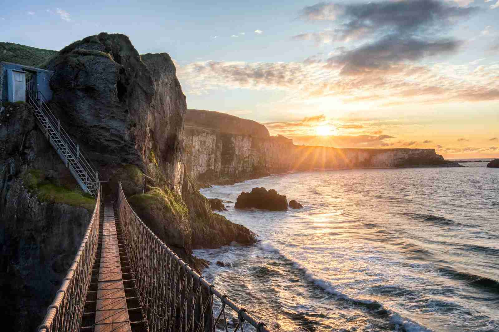 Carrick-a-Rede Rope Bridge. (Photo by James Kerwin/Getty Images)
