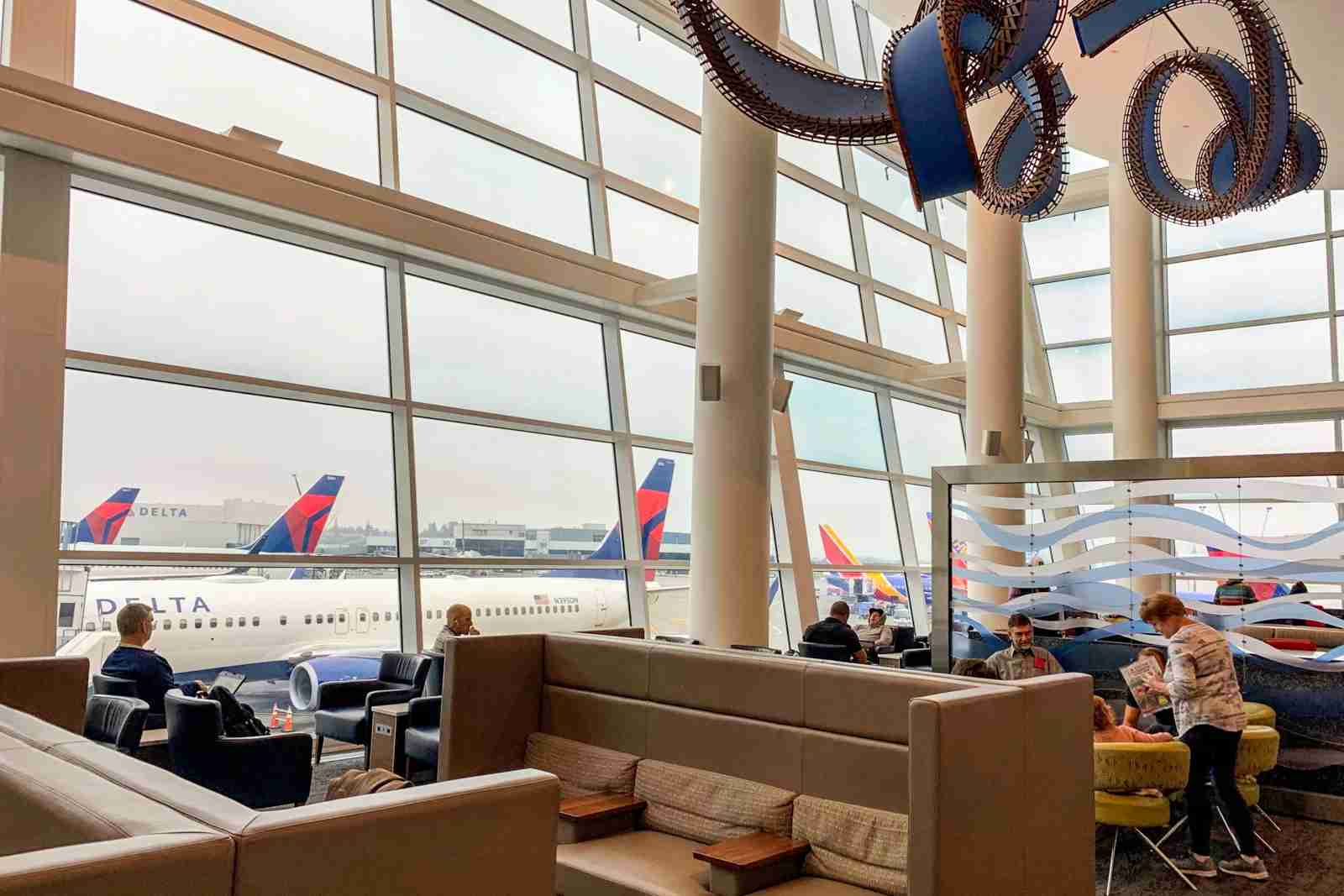 Delta Sky Club in Seattle (Photo courtesy of Delta)