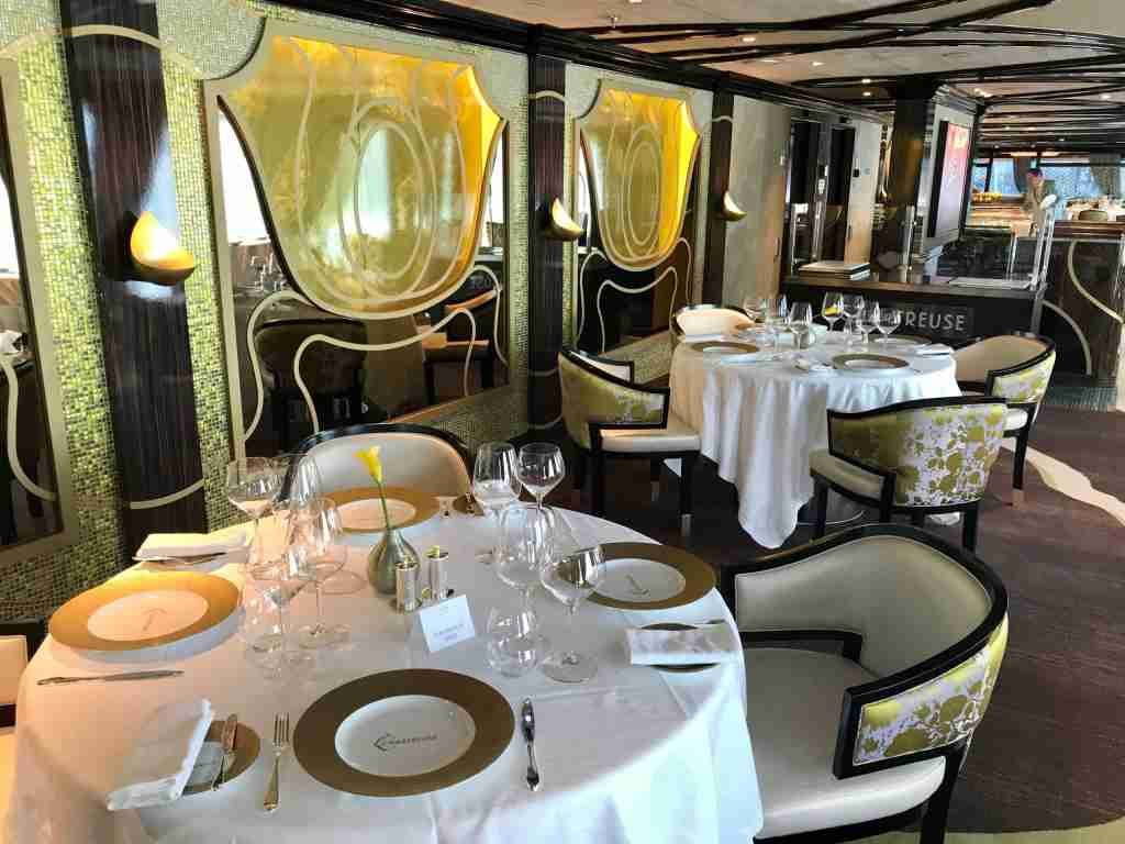 The French restaurant Chartreuse on Seven Seas Splendor. (Photo by Gene Sloan/The Points Guy)