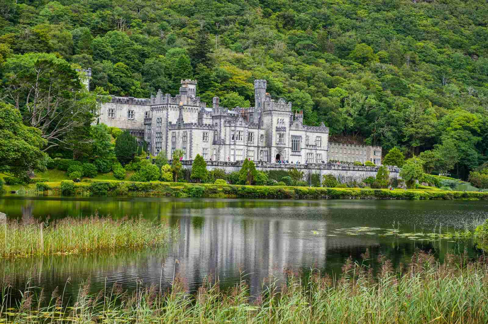 Kylemore Abbey in Connemara National Park. (Photo by Michael Runkel/Getty Images)