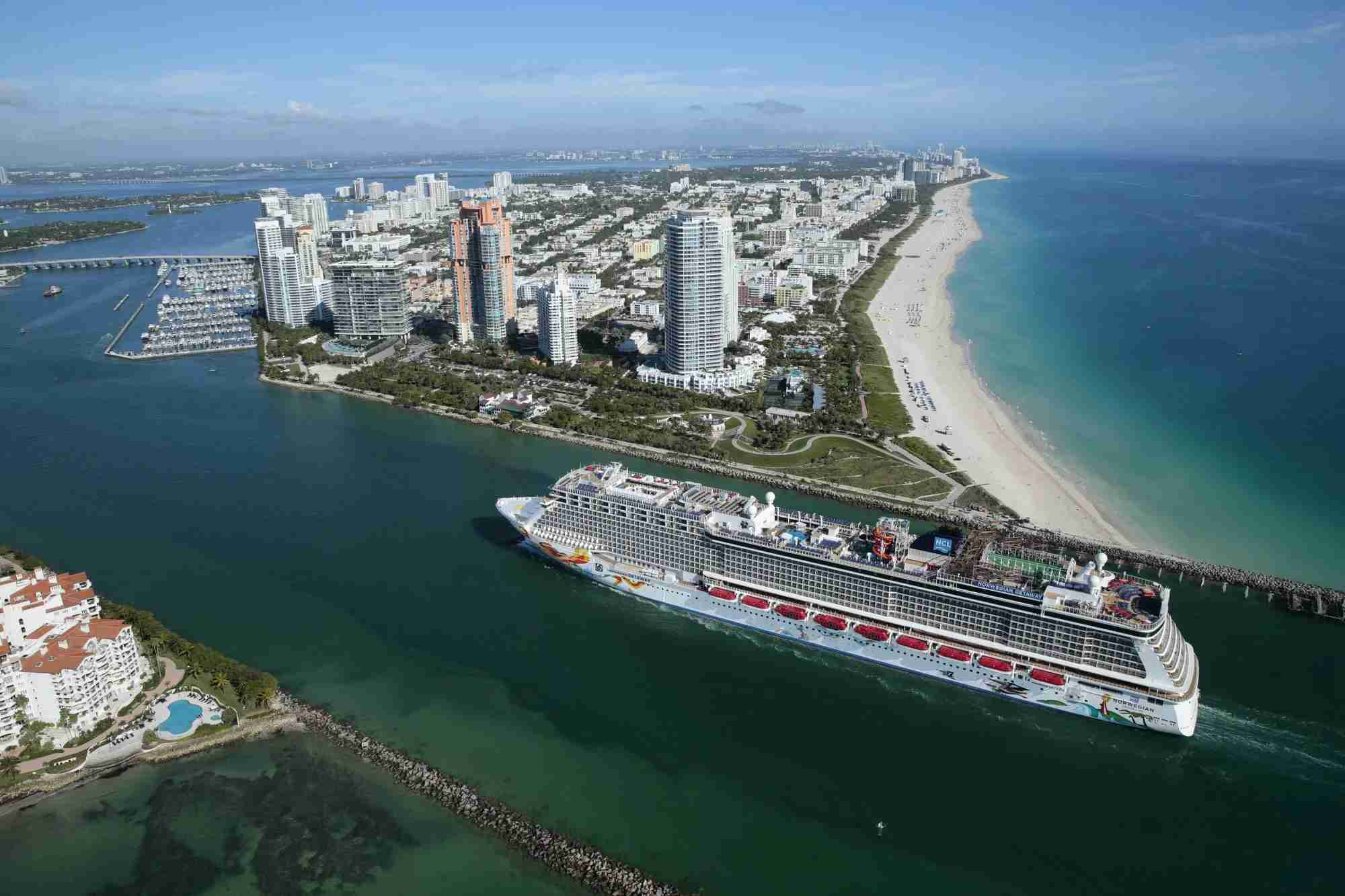 Norwegian Getaway in Miami (Photo courtesy of Norwegian Cruise Line)