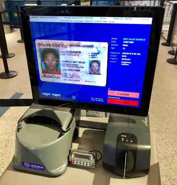 The CAT verified that this license has expired. (Photo courtesy of the TSA)
