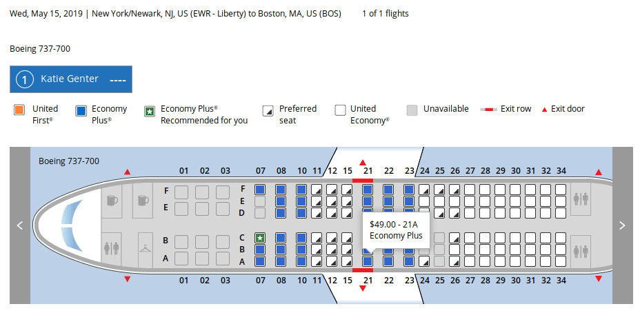 Plane Seats Numbers