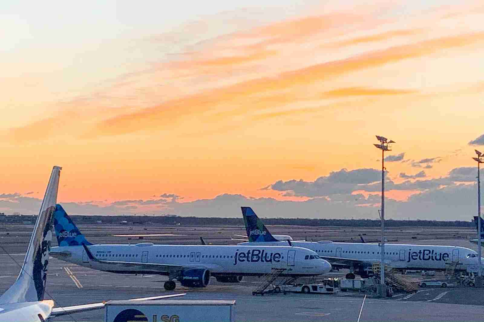 JetBlue planes at JFK in 2020. (Photo by Clint Henderson/The Points Guy)