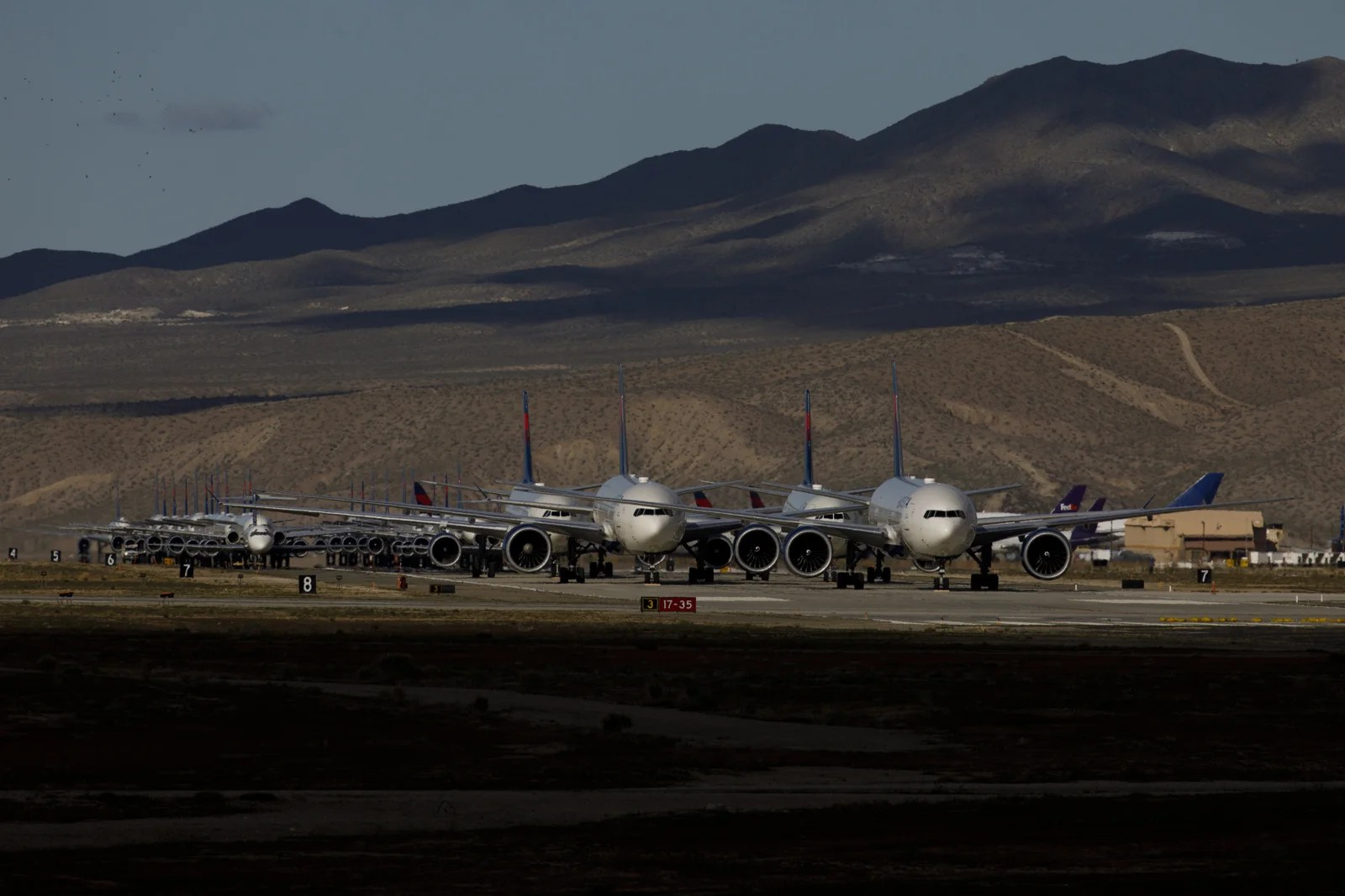 Pilots beware: some runways are now parking lots