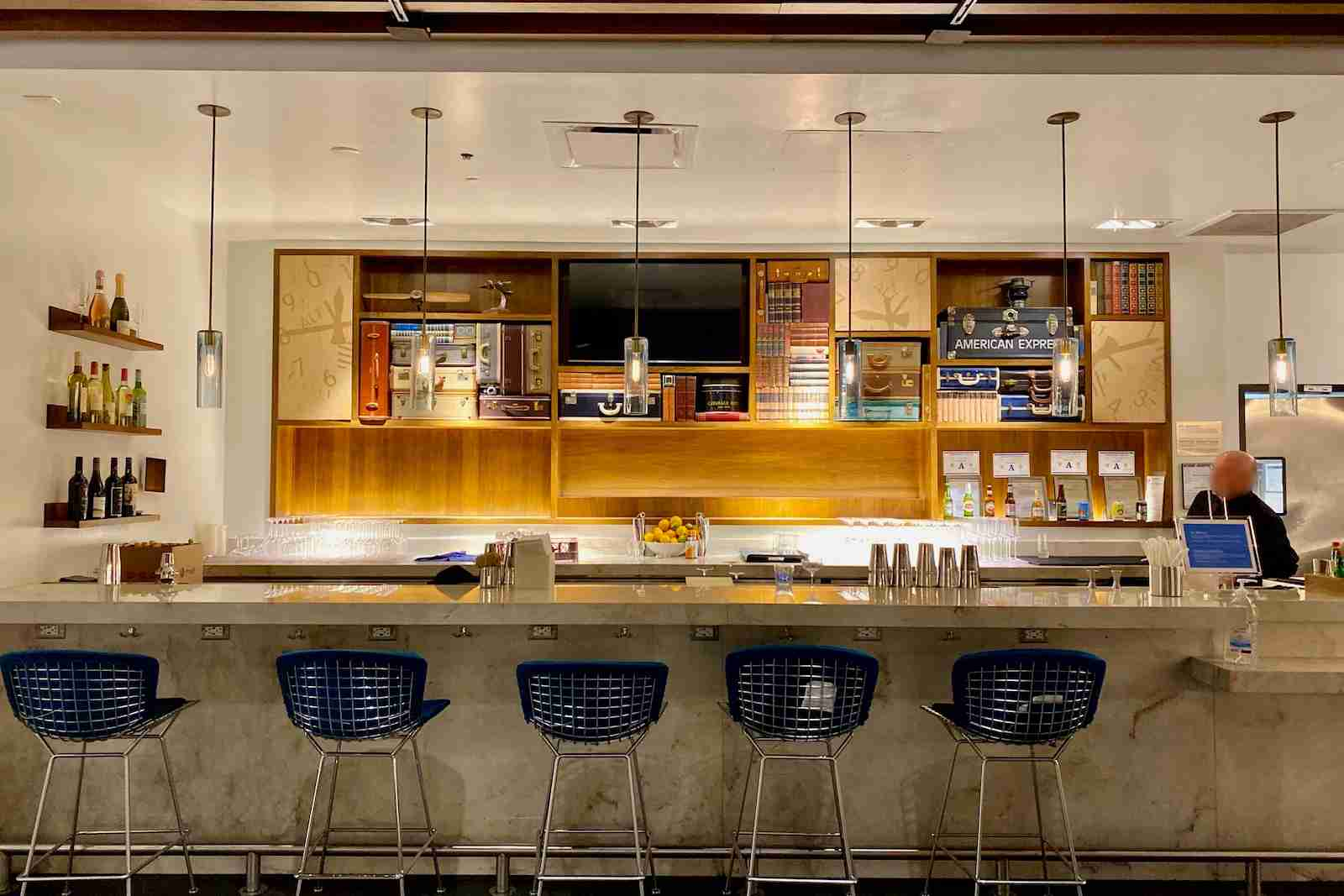 Amex Centurion Lounge Las Vegas. (Image courtesy of Zach Griff/The Points Guy)