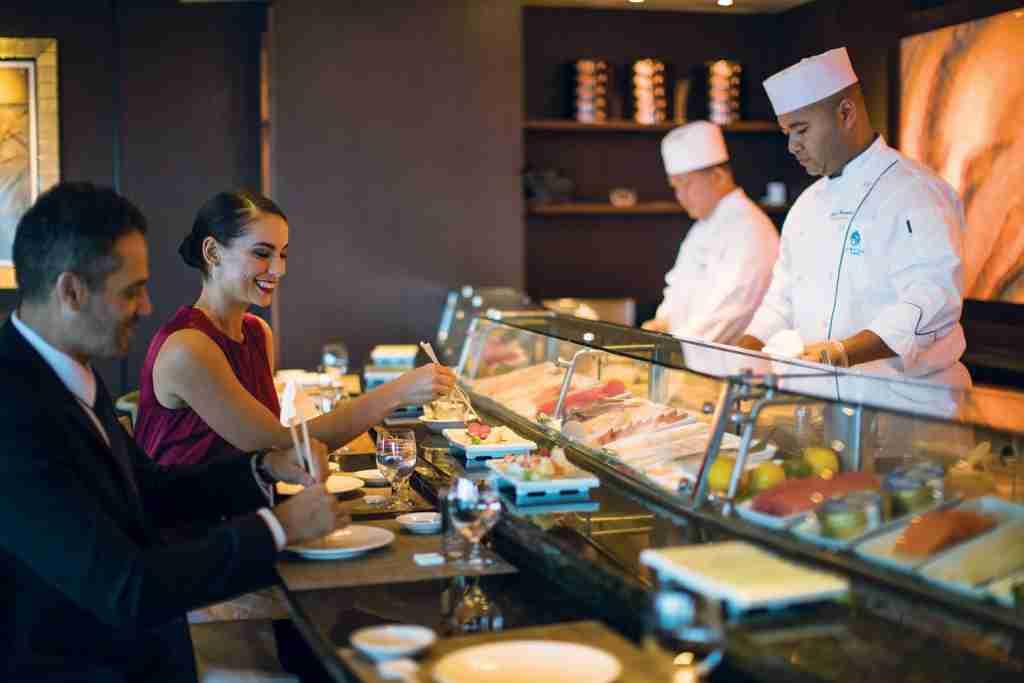 Famed chef Nobu Matsuhisa is behind the Umi Uma restaurant and sushi bar on Crystal Symphony. (Photo courtesy of Crystal Cruises).