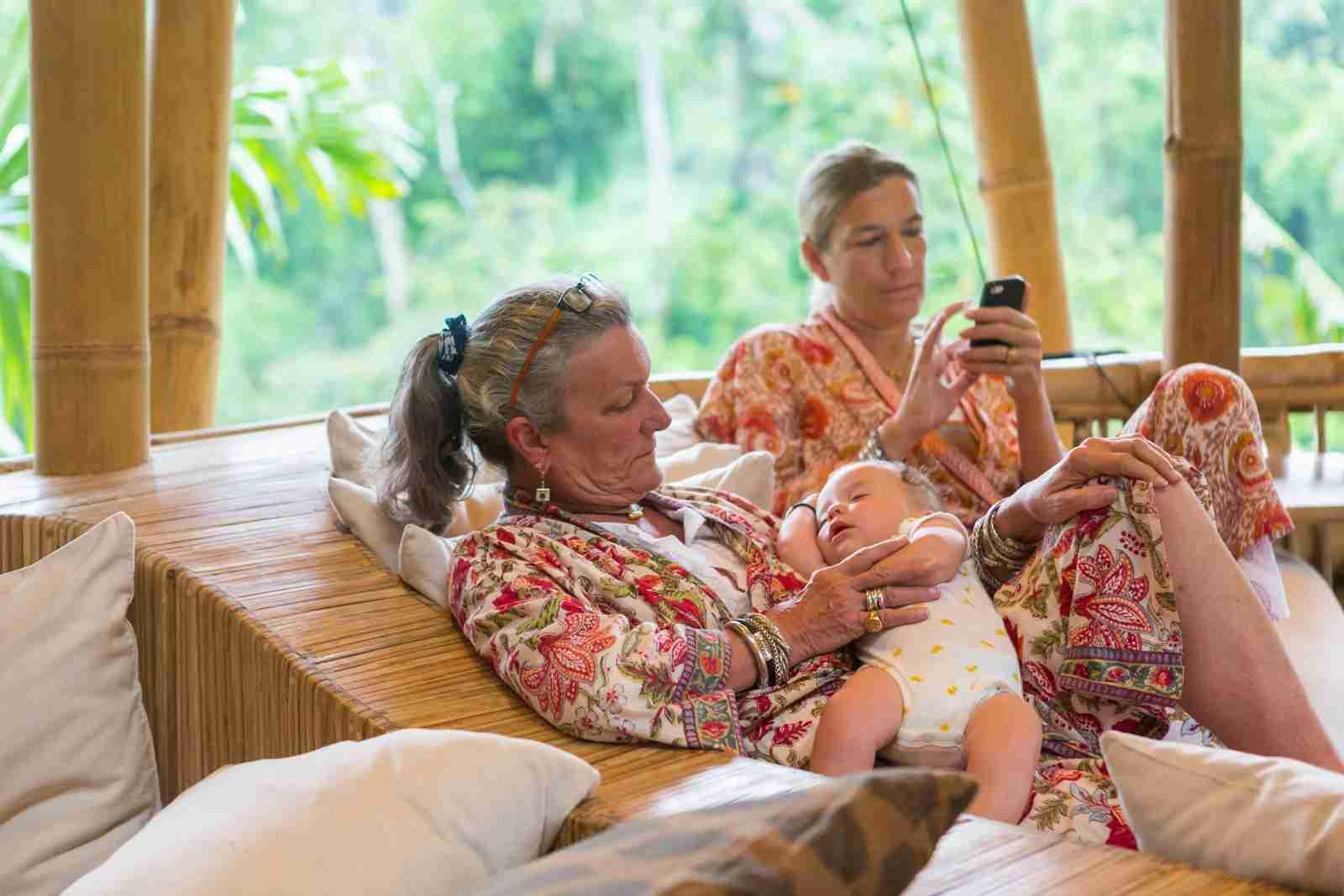 Bringing grandma (or grandpa) along might bring you more serenity than you think. (Photo via Getty Images)