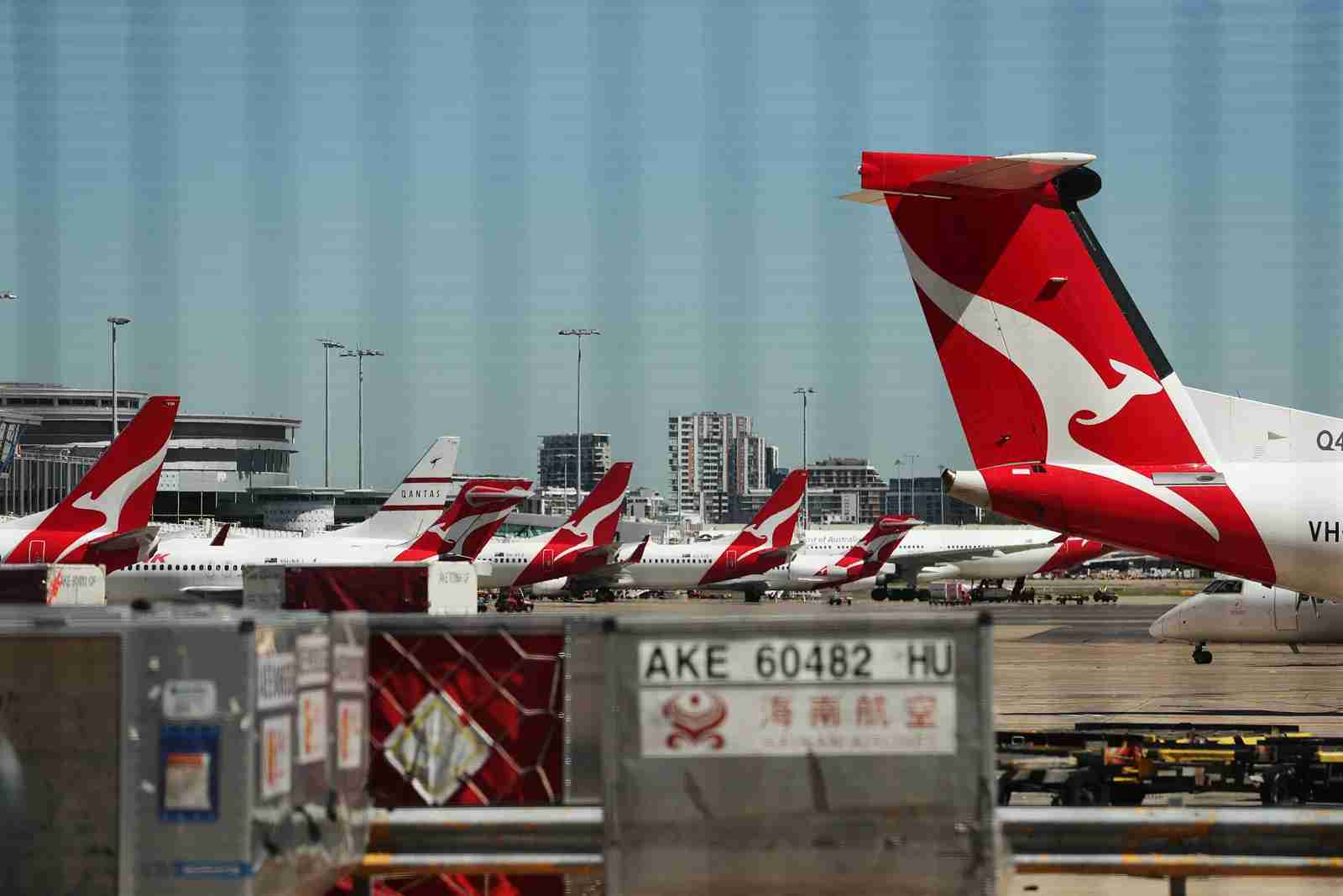 Qantas aircraft parked at Sydney Airport. (Photo by Mark Metcalfe/Getty Images)