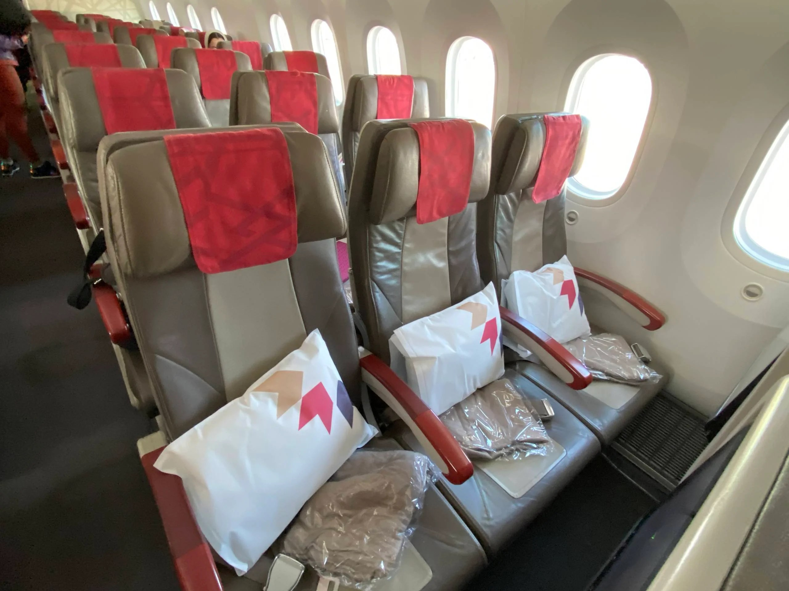 Economy class seats on Royal Air Maroc's Boeing 787-8. (Photo by Benét J. Wilson/The Points Guy)