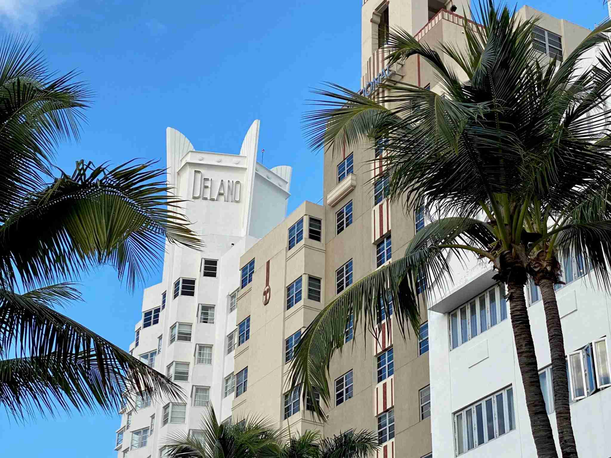 Art Deco buildings in South Beach, Miami. (Photo by Nick Ellis / The Points Guy)
