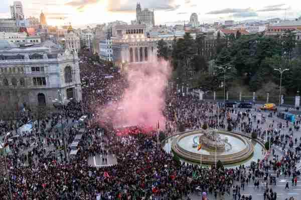 International Women's Day in Madrid, Spain. (Photo by Alvaro Hurtado/NurPhoto/Getty Images)