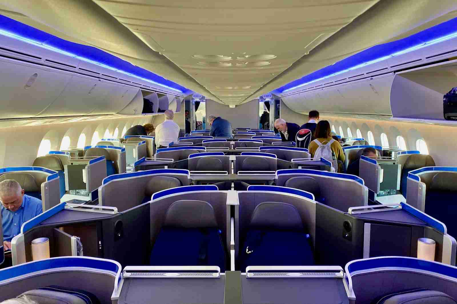 The United Polaris cabin on the 787-10