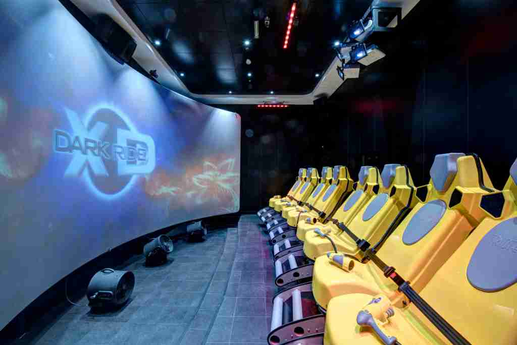 "A multi-sensory ""4D"" theater is among the attractions on MSC Meraviglia. (Photo courtesy of MSC Cruises)."