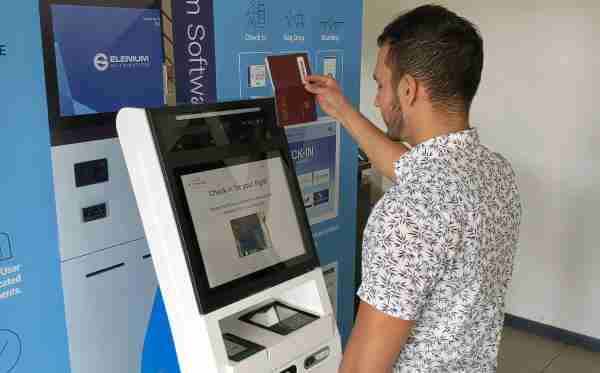 Self-service kiosk with