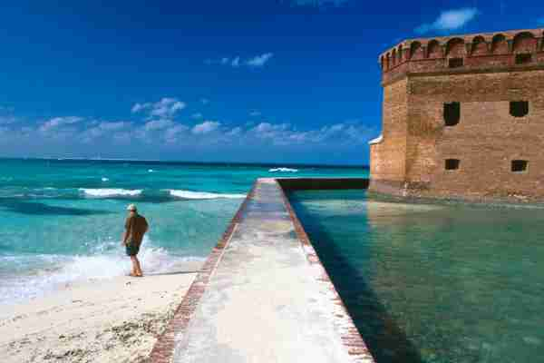 Fort Jefferson in Dry Tortugas National Park. (Photo by Eddie Brady/Getty Images)