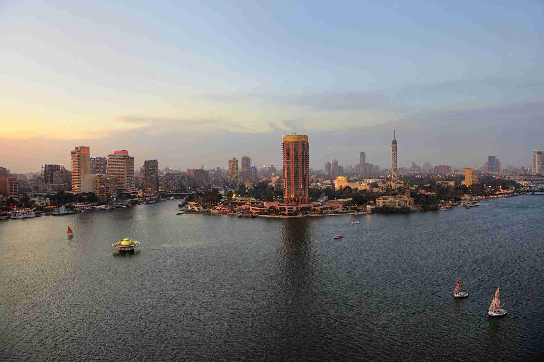The Nile River in Cairo, Egypt. (Photo via Getty Images)