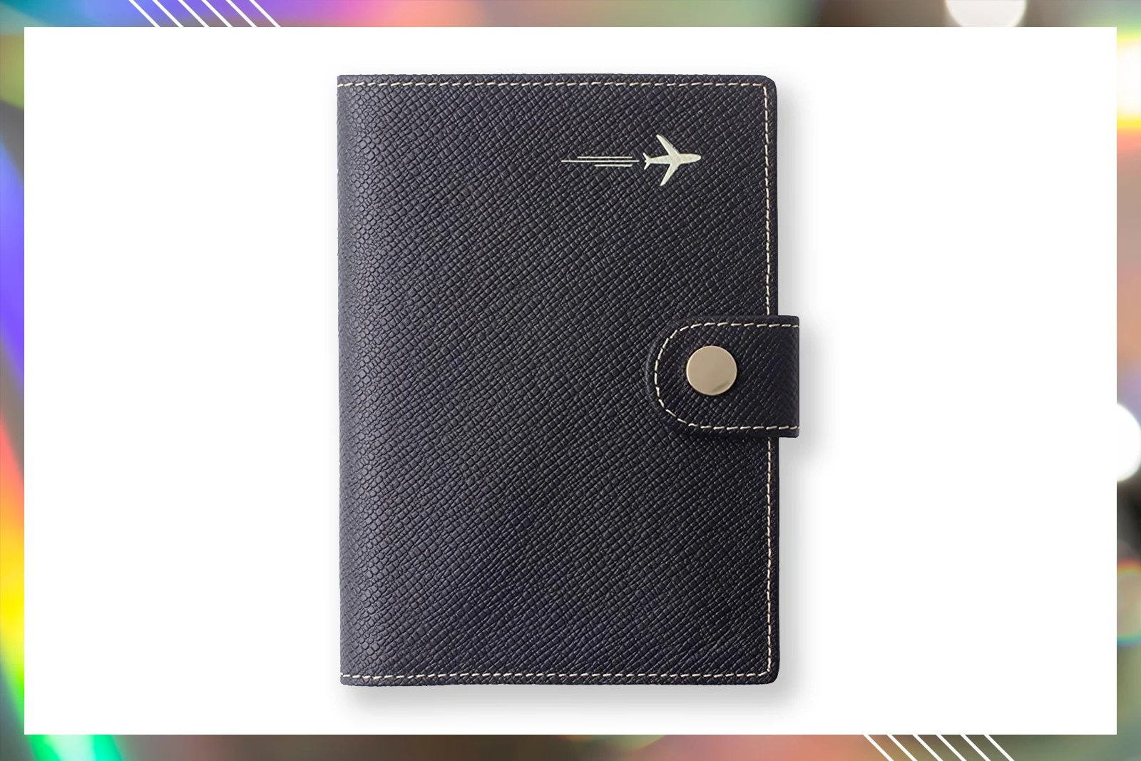Pink Unicorn Flying The Sky Leather Passport Holder Cover Case Blocking Travel Wallet