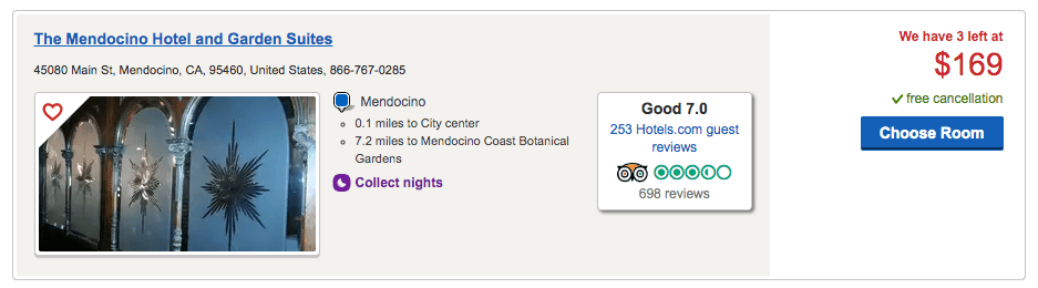 Mendocino Hotel and Gardens