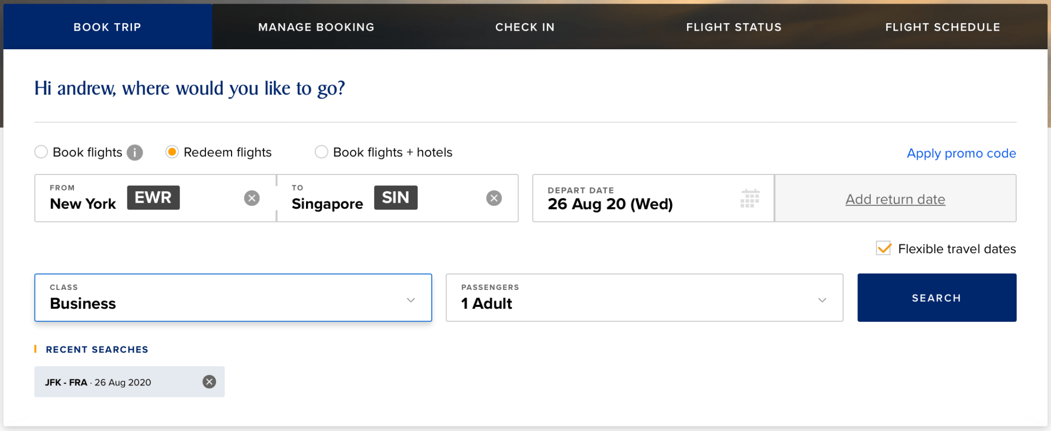Searching Singapore Airlines Award Space